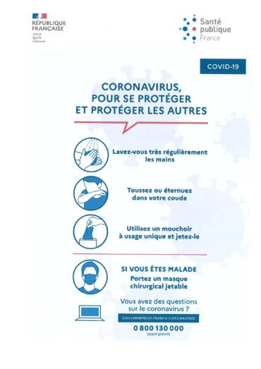 CORONAVIRUS – MAIRIE FERMEE